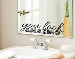 mirror decals home decor vinyl cling etsy