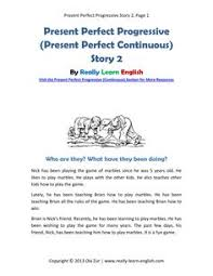 present perfect story 2 for download http www really learn