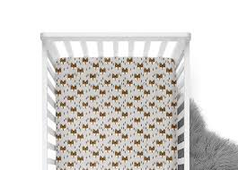 fitted crib sheet geometric fox fox crib sheet fox baby