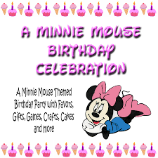 minnie mouse birthday bash