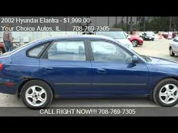 2002 hyundai elantra review 2002 hyundai elantra gt for sale in posen il 60469