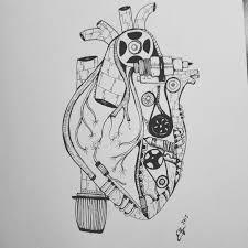 tattoo design for my little sister mechanical heart from truck