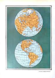 Hemispheres Home Decor by Remodelaholic 20 Free Vintage Map Printable Images