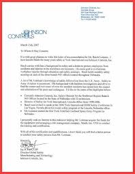 Reference Letter York pilot recommendation letter memo exle