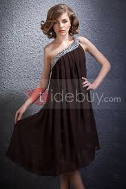 dramatic one shoulder beading knee length daria u0027s cocktail party