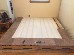 How To Make A King Size Platform Bed With Pallets by King Size Pallet Bed Project 6 Steps With Pictures