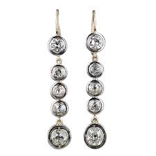 diamond earrings sale antique cushion cut diamond drop earrings for sale at 1stdibs