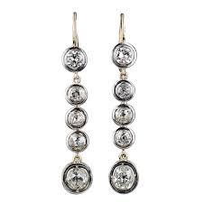 diamond earrings sale antique cushion cut diamond drop earrings for sale at 1stdibs