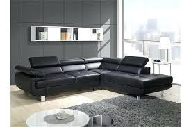 canapé d angle noir simili cuir canape lit cuir noir canapac convertible 3 places en cuir noir glam
