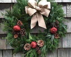 live christmas wreaths wreath etsy