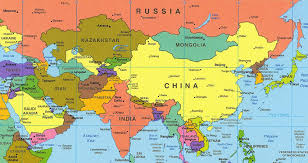asia map map of asia with names major tourist attractions maps