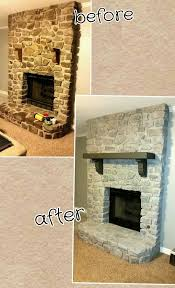 Whitewashing A Fireplace by Finally Done Whitewashed My Stone Fireplace And Sanded And