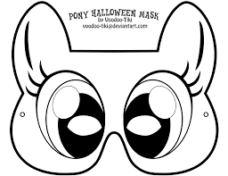 pony halloween mask by voodoo tiki on deviantart
