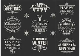 free retro happy new year vector labels download free vector art