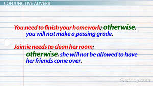 how to use otherwise in a sentence video u0026 lesson transcript