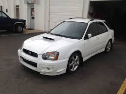 subaru cars white 2004 subaru wrx aspen white wagon 5 speed part out the subie