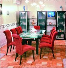 red dining rooms extravagant contemporary dining room with striking red chairs