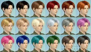 sims 4 blue hair levi the sims4 male hair kewai dou