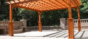 Wood For Pergola by Pergolas San Diego California Backyard Unlimited