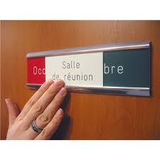 plaque porte bureau plaque de porte occupé libre gravée salle de réunion direct