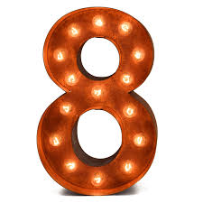 marquee numbers with lights iconics rusted number marquee light hayneedle