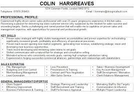sales manager cv sample
