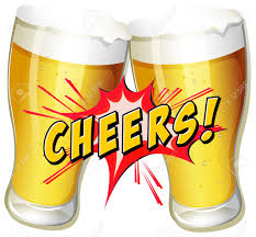 cartoon beer cheers cheers and a couple of beers royalty free cliparts vectors and