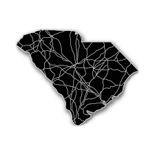 State Map Of South Carolina by South Carolina Acrylic Cutout State Map Modern Crowd Touch