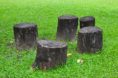 Stump Chair Wooden Stump Chair And Table Royalty Free Stock Photos Image