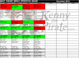 december disney world crowd calendar park hours kennythepirate 5
