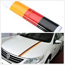 Car Antenna Flags German Flag Style Auto Vehicle Bumper Stripes Sticker Decal Vinyl