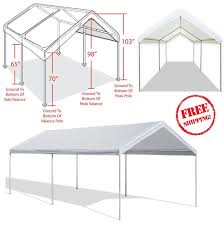 Outdoor Carport Canopy by Outdoor Carport Garage Tent 10x20 Steel Frame Car Canopy Shelter