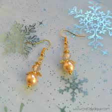 christmas crafts how to make beaded angel earrings craftaholique