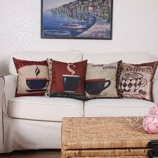 2017 home decoration pillow sofa cushion cover coffee pattern