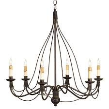 derby bell curve black wrought iron 6 light chandelier kathy kuo