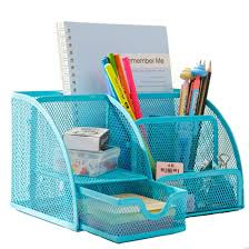 leben office desk organiser pen holder metal mesh pencil pens