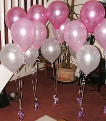 party theme baby girls christening 3 latex balloons per set