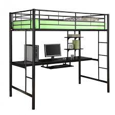 black metal twin loft bed with desk innovative metal loft bed with desk 25 awesome bunk beds with desks