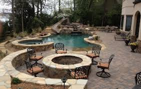 Home Design Ideas With Pool Plain Patio With Pool Discount And T Intended Decorating Ideas