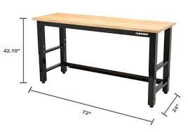 bench work bench height garage workbench height garage door