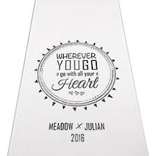 Personalized Aisle Runner Personalized Wedding Aisle Runners Weddingstar