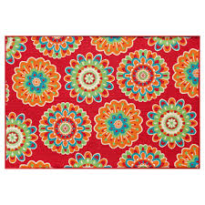 Kohl S Living Room Rugs Summer Floral Medallion Indoor Outdoor Rug