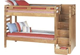 creekside taffy twin twin step bunk bed beds light wood