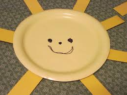 walk in the sunshine paper plate sunshine project