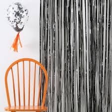 rideau mylar frange noir m礬tallis礬 d礬cor photobooth achat vente