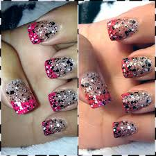 nails grown out and can u0027t get a fill go over them with glitter to