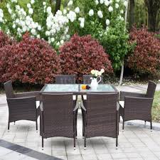 Ebay Garden Table And Chairs Patio Furniture Dining Set Outdoor Wicker Rattan 11 Pc Garden