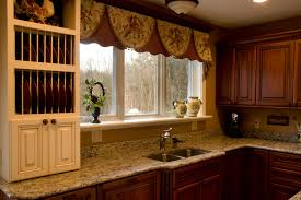 Kitchen Window Valance Ideas by Curtain Ideas For Kitchen Beige Floral Fabric Windows Valance Grey