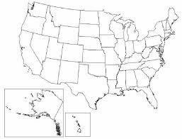 united states including alaska and hawaii blank map us map of states with alaska map of united states 1 thempfa org