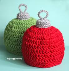 crochet christmas crochet christmas ornament hat pattern repeat crafter me
